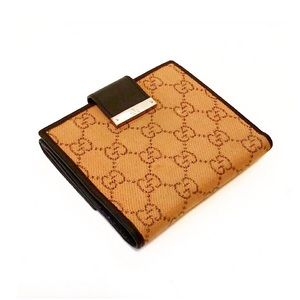 Authentic Gucci Monogram GG Compact Wallet